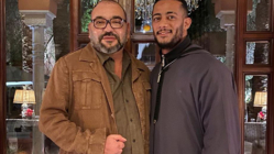 صورة تجمع الممثل محمد رمضان بالملك محمد السادس