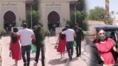 قبل وعناق بين دنيا بطمة ومحمد الترك وسط المحكمة