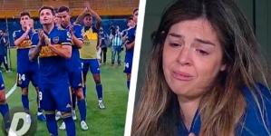 """ابنة الأسطورة """"مارادونا"""" تبكي أمام جماهير البوكا"""